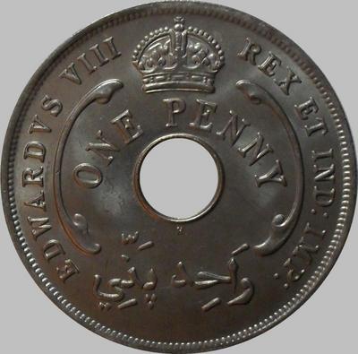 1 пенни 1936 Британская западная Африка.