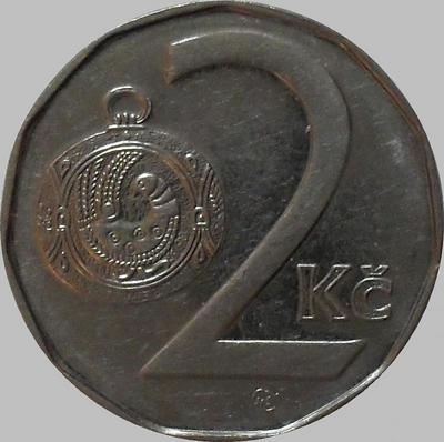 2 кроны 1995 Чехия. (в наличии 1994 b' год)