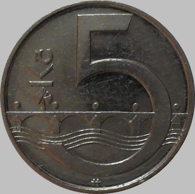 5 крон 2002 Чехия. (в наличии 2006 год)