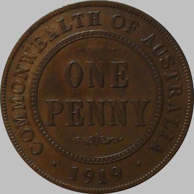 1 пенни 1919 Австралия.