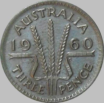 3 пенса 1960 Австралия.