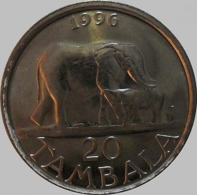 20 тамбала 1996 Малави. Слоны.