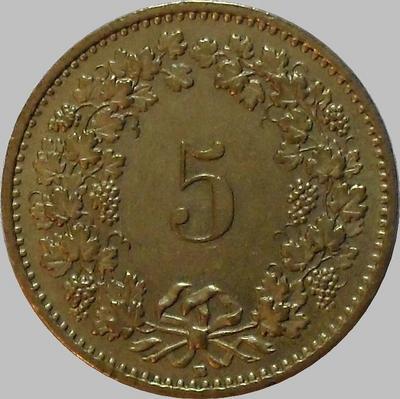 5 раппенов 1989 В Швейцария.