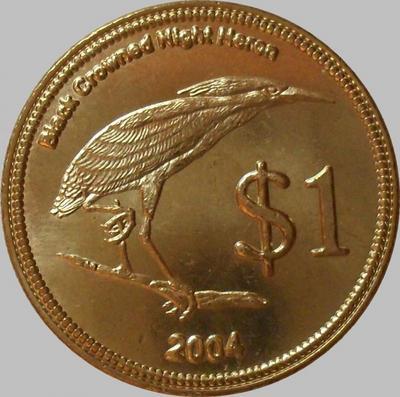 1 доллар 2004 Кокосовые острова. Кваква обыкновенная.