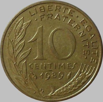 10 сантимов 1989 Франция.