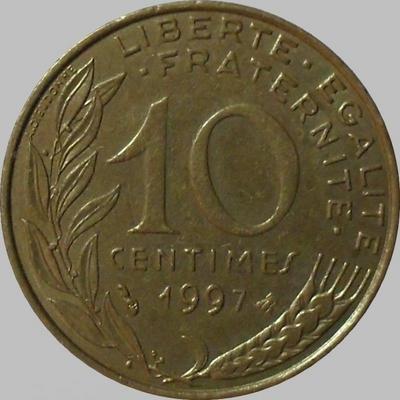 10 сантимов 1997 Франция.