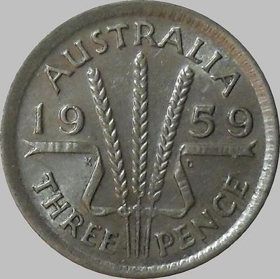 3 пенса 1959 Австралия.