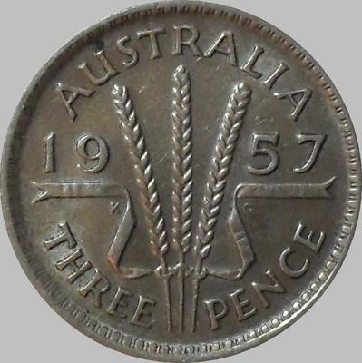 3 пенса 1957 Австралия.