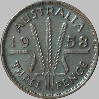 3 пенса 1958 Австралия.