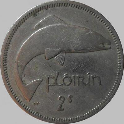 1 флорин (2 шиллинга) 1964 Ирландия. Лосось.