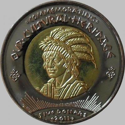 5 доллар 2011 Резервация индейцев-койотов.