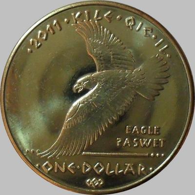 1 доллар 2011 Резервация индейцев-койотов. Орёл.