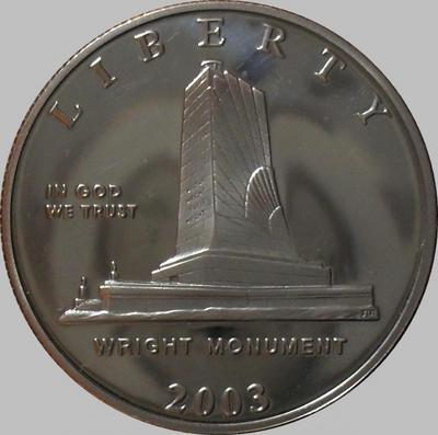 1/2 доллара Р 2003 США. Братья Райт. Пруф.