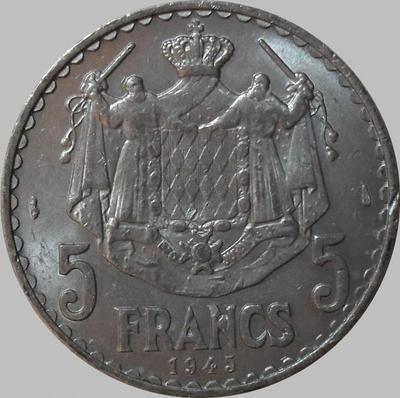 5 франков 1945 Монако.