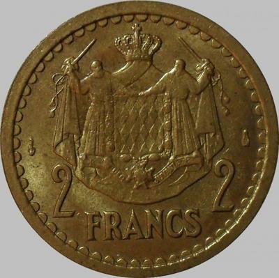 2 франка 1945 Монако.