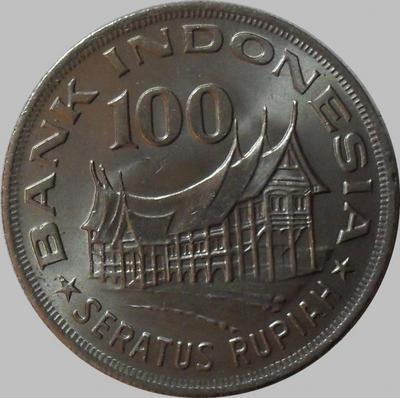 100 рупий 1978 Индонезия.