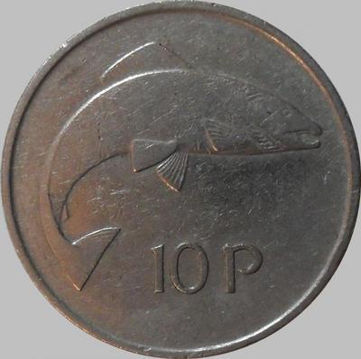 10 пенсов 1975 Ирландия. Лосось.