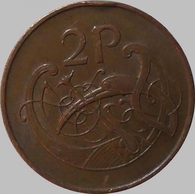 2 пенса 1971 Ирландия. Стилизованная птица.
