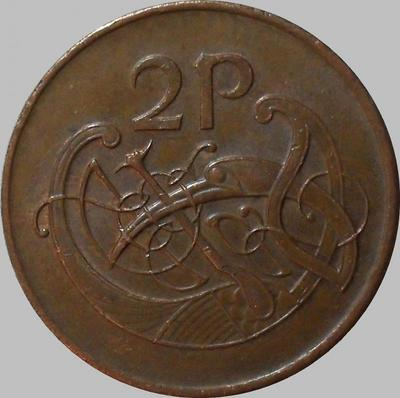 2 пенса 1980 Ирландия. Стилизованная птица.