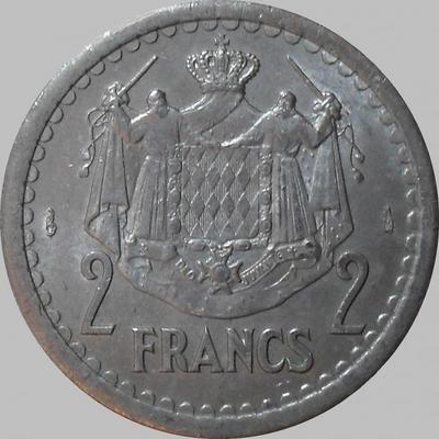 2 франка 1943 Монако.