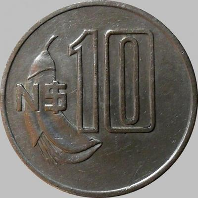 10 песо 1981 Уругвай.