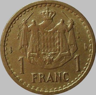 1 франк 1945 Монако.