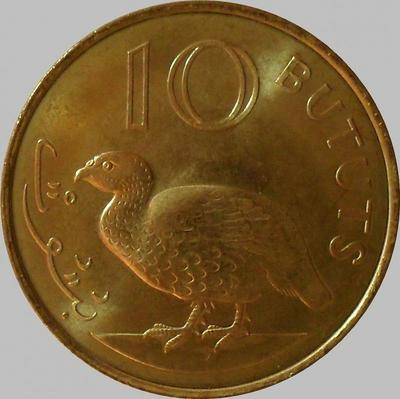 10 бутут 1998 Гамбия. Турач.