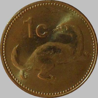 1 цент 1995 Мальта. Горностай. (в наличии 2001 год)
