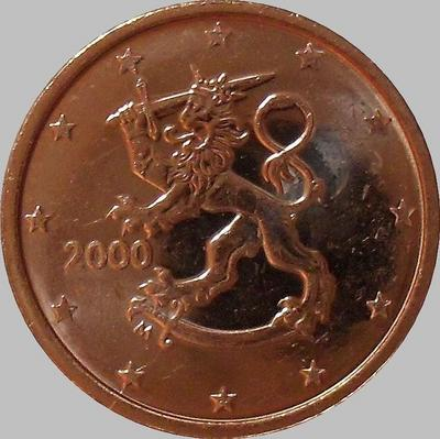 2 евроцента 2000 М Финляндия.