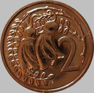 2 цента 1982 Новая Зеландия.