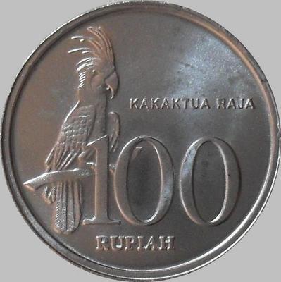 100 рупий 1999 Индонезия. Какаду.