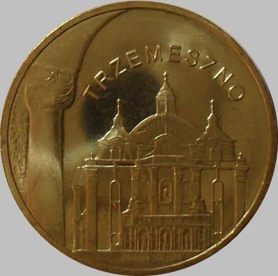 2 злотых 2010 Польша. Города Польши — Тшемешно.