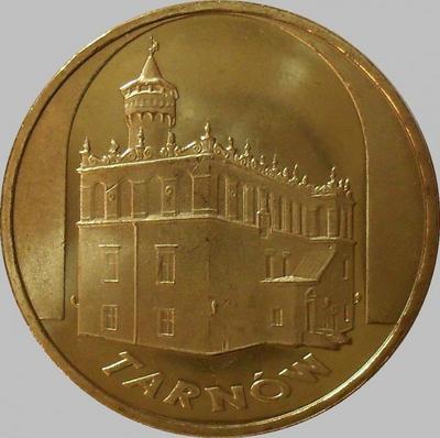 2 злотых 2007 Польша. Города Польши- Тарнов.