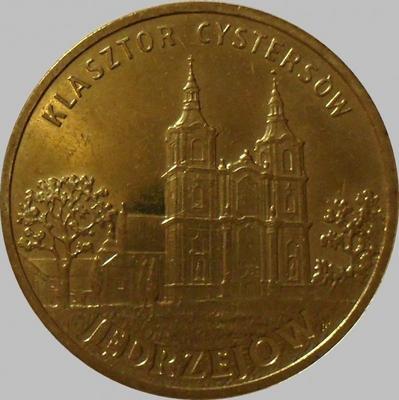 2 злотых 2009 Польша. Енджеюв-цистерцианский монастырь.