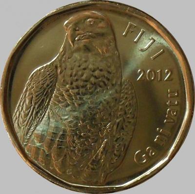2 доллара 2012 острова Фиджи. Сокол.