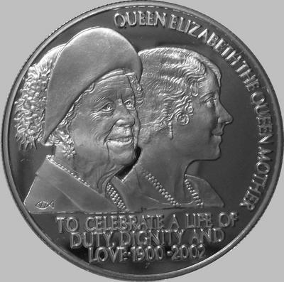 50 пенсов 2002 остров Святой Елены. Жизнь в служении, достоинстве и любви.