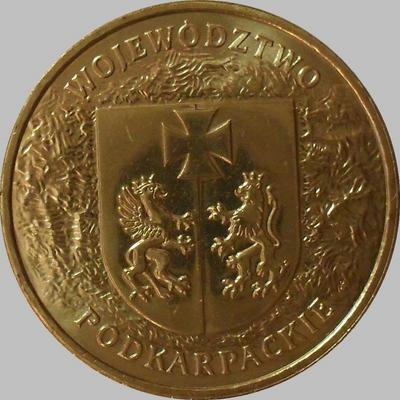 2 злотых 2004 Польша. Подкарпатское воеводство.
