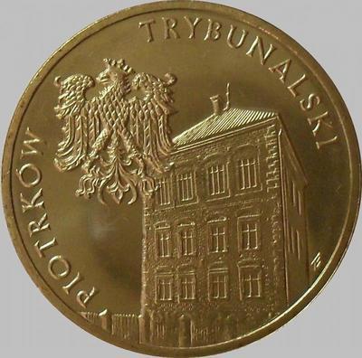 2 злотых 2008 Польша. Пётркув-Трибунальский.
