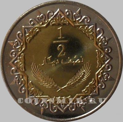 1/2 динара 2004 Ливия.