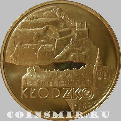 2 злотых 2007 Польша. Клодзко.