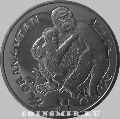 1 доллар 2010 Сьерра-Леоне. Орангутан.