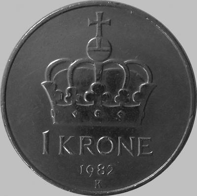 1 крона 1982 Норвегия.