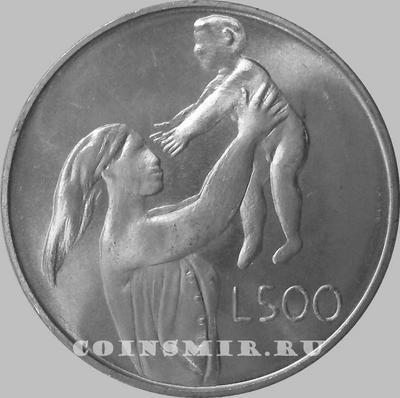 500 лир 1972 Сан-Марино. Женщина с ребёнком.