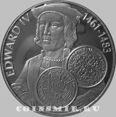 50 пенсов 2001 Фолклендские острова. Король Эдуард IV.