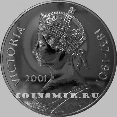 50 пенсов 2001 остров Вознесения. Королева Виктория. 1837-1901.