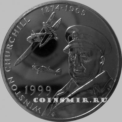 50 пенсов 1999 Тристан да Кунья. Уинстон Черчилль.