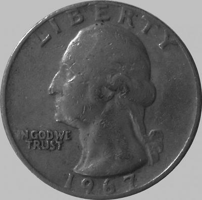 25 центов 1967  США.
