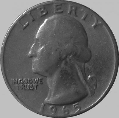 25 центов 1965  США.