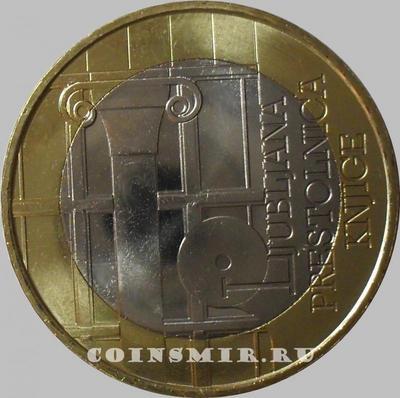 3 евро 2010 Словения. Любляна - всемирная книжная столица 2010 года.