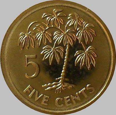 5 центов 2007 Сейшельские острова.